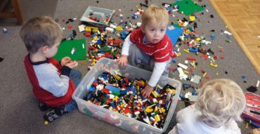 Danish kids with Legos