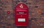 Danish red mailbox postkasse