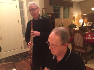 Playing music for Danish Song evening in Portland
