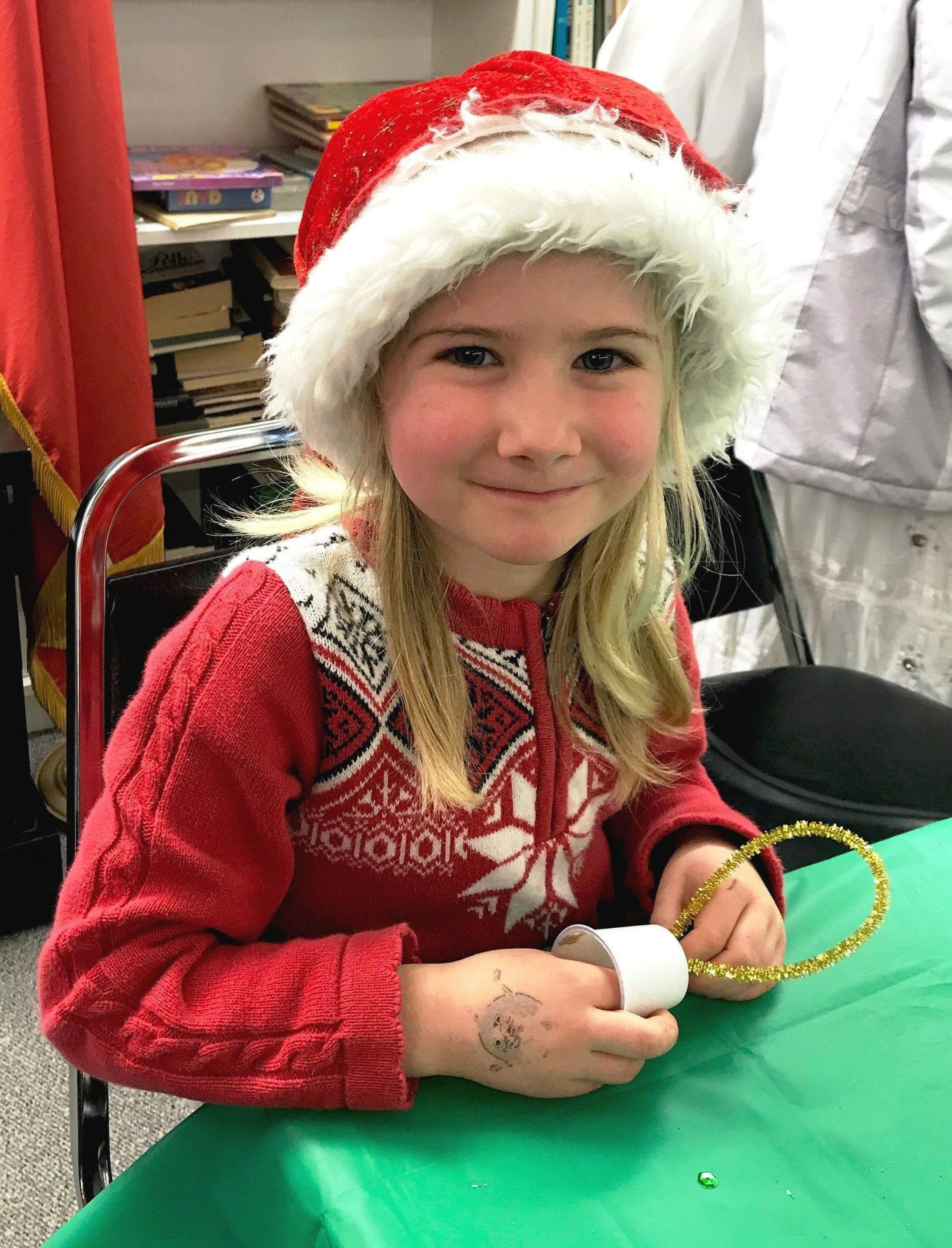 Child at Danish Christmas Event
